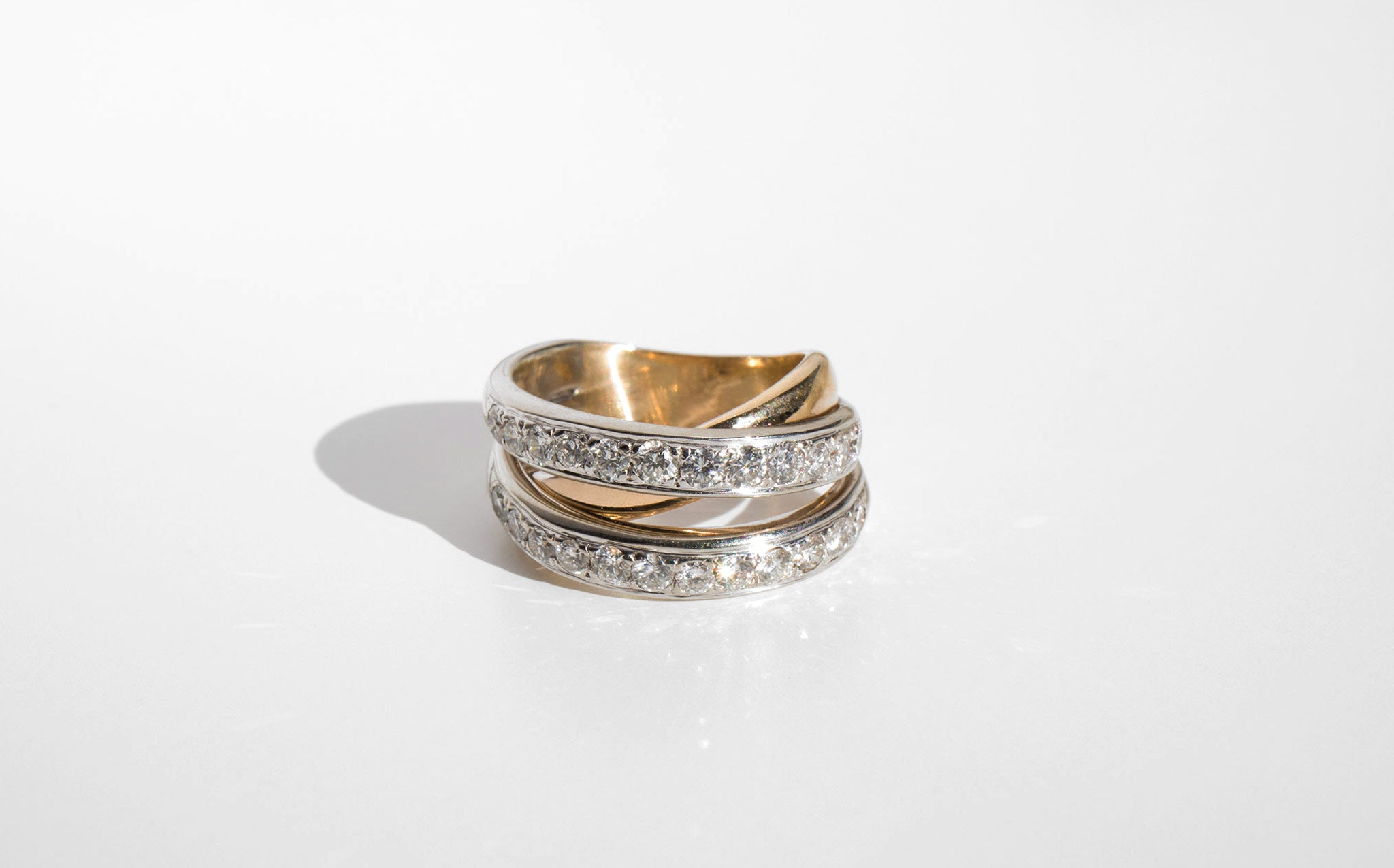 Diamond Tri Band Ring