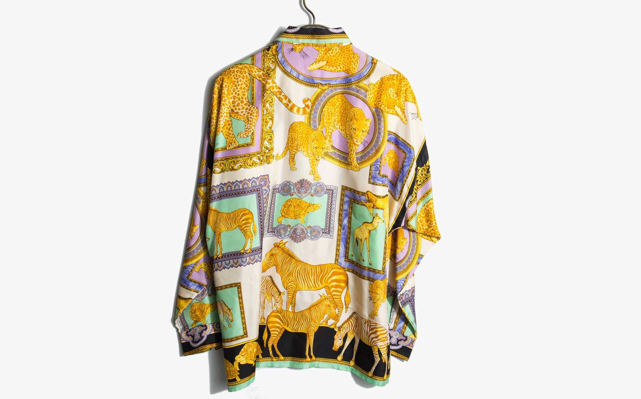 Gianni Versace Iconic 1990's Silk Animal Print Shirt