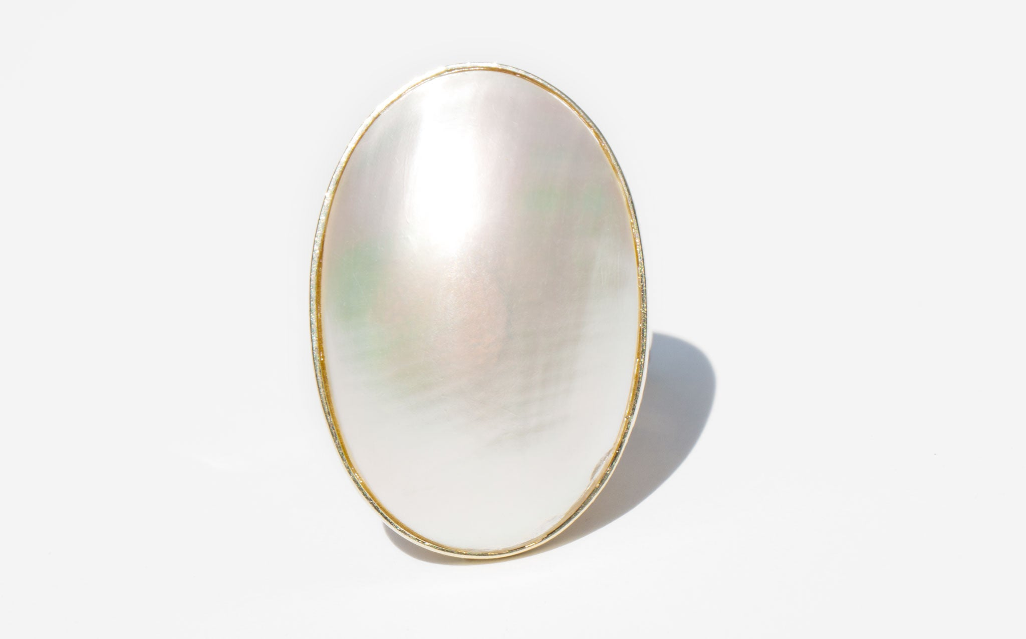 Mother of Pearl and 14K Dome Ring
