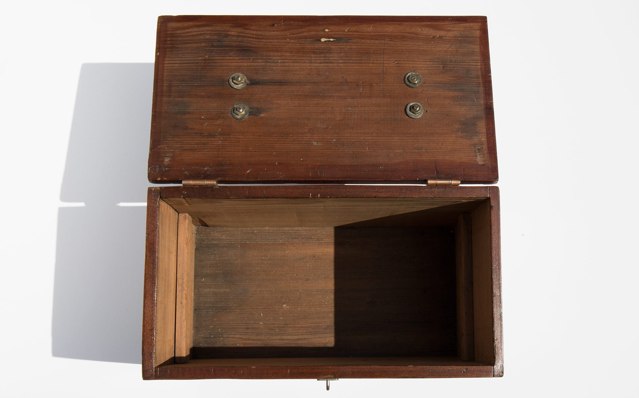 Hand Restored Turn Of The Century Pine Artist's Box