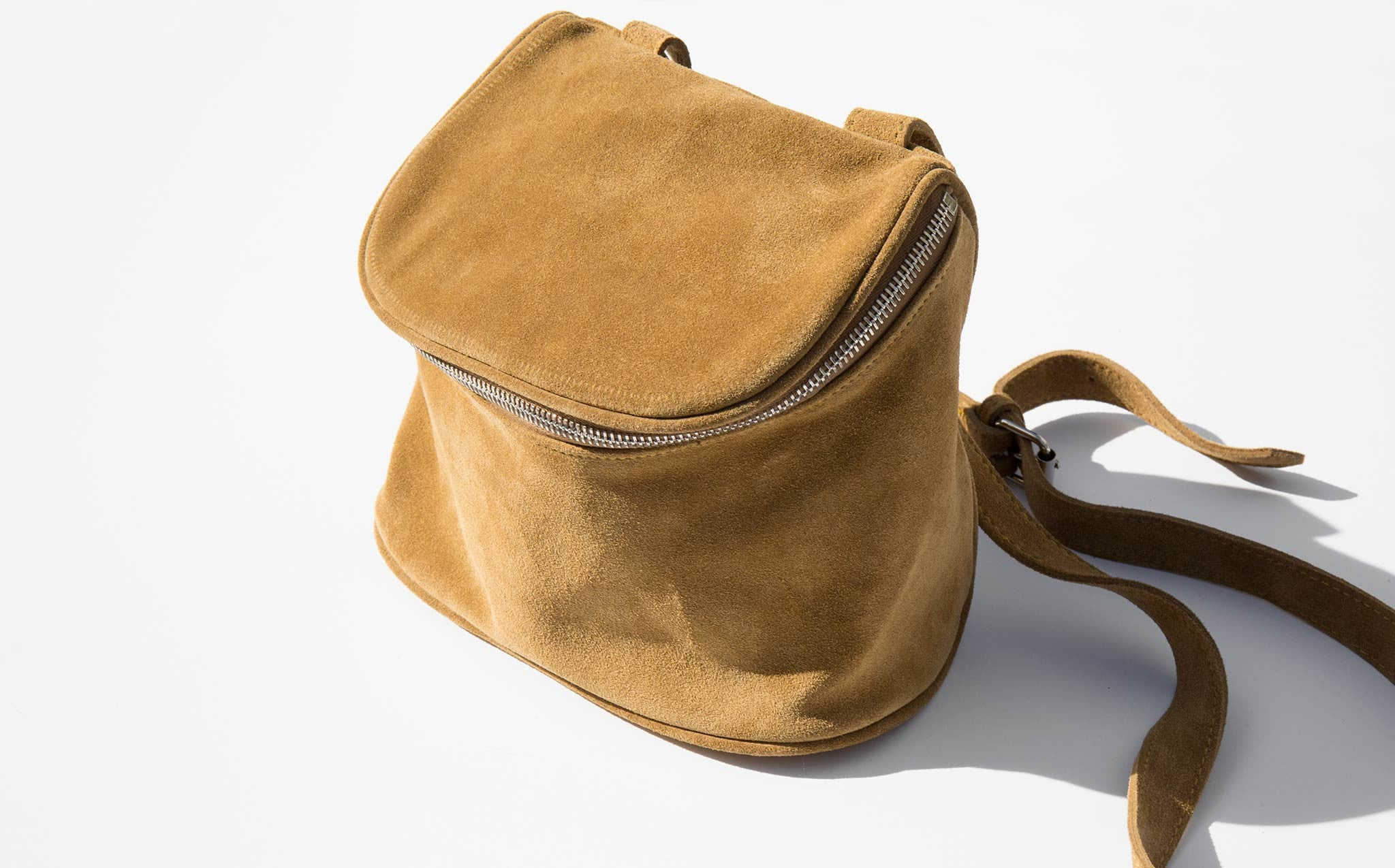 Clyde Golden Brown Suede Camera Bag kindred black
