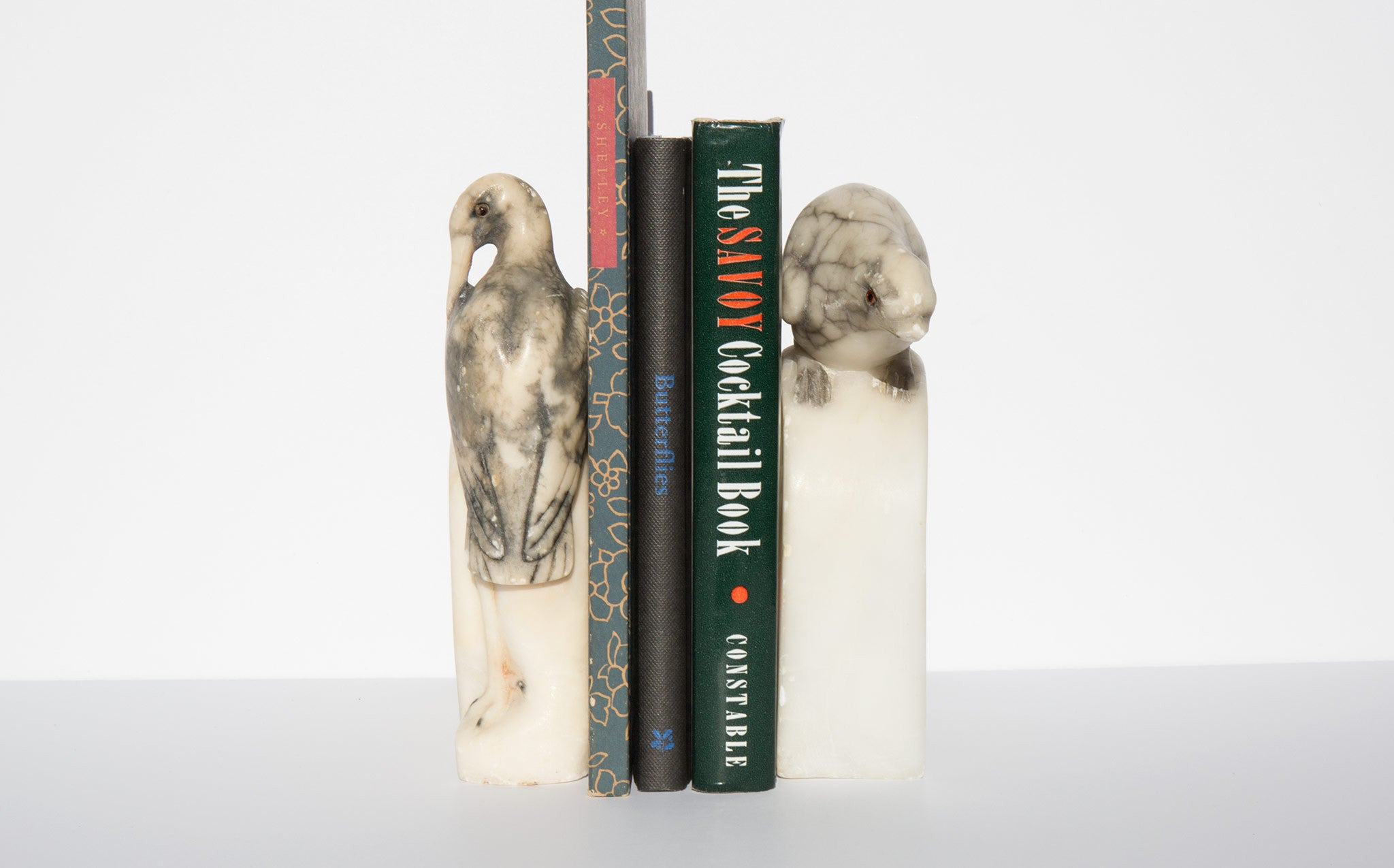Alabaster Bird Bookends