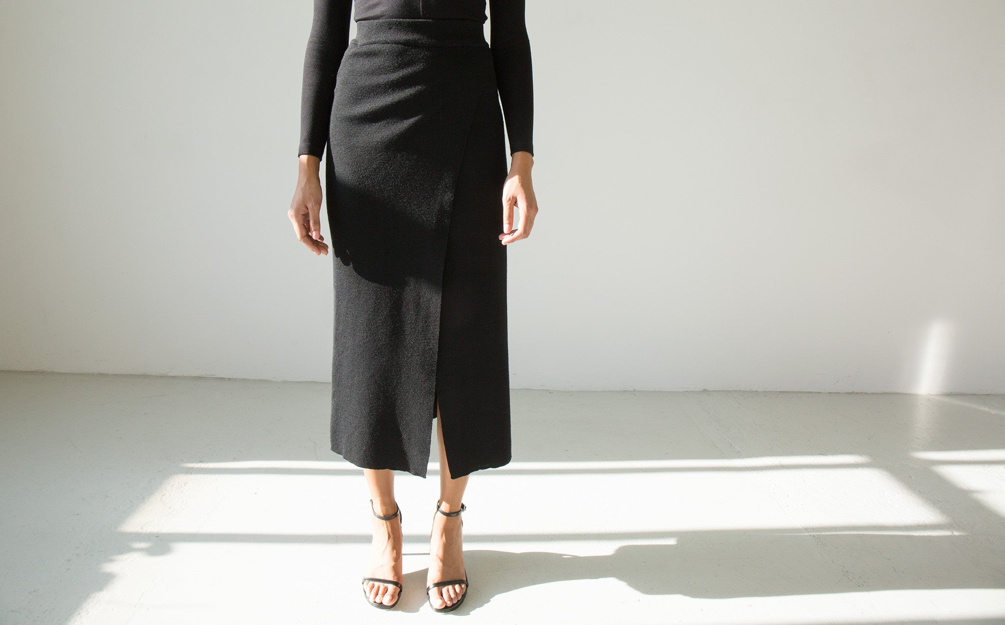 Wool Pencil Skirt kindred black