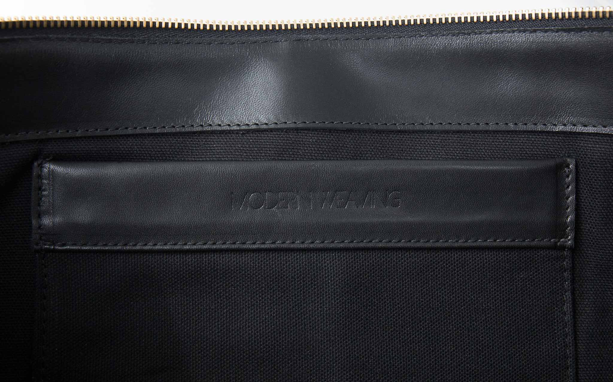 Modern Weaving Black Aureole Zip Clutch