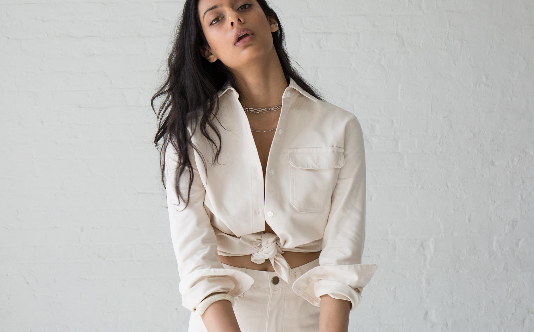 Roberta Natural Georgia Button Down