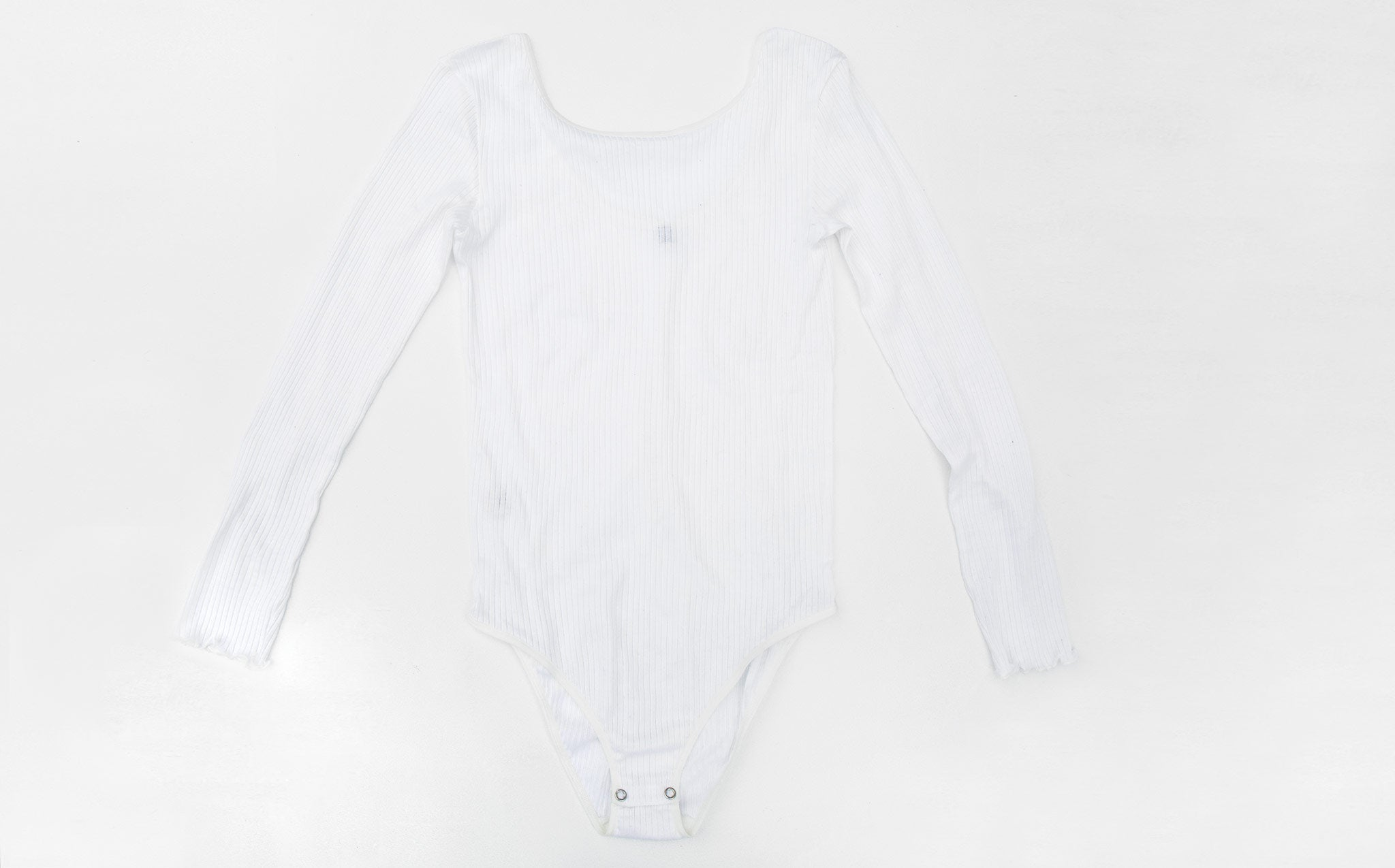 Baserange White Long Sleeve Bodysuit