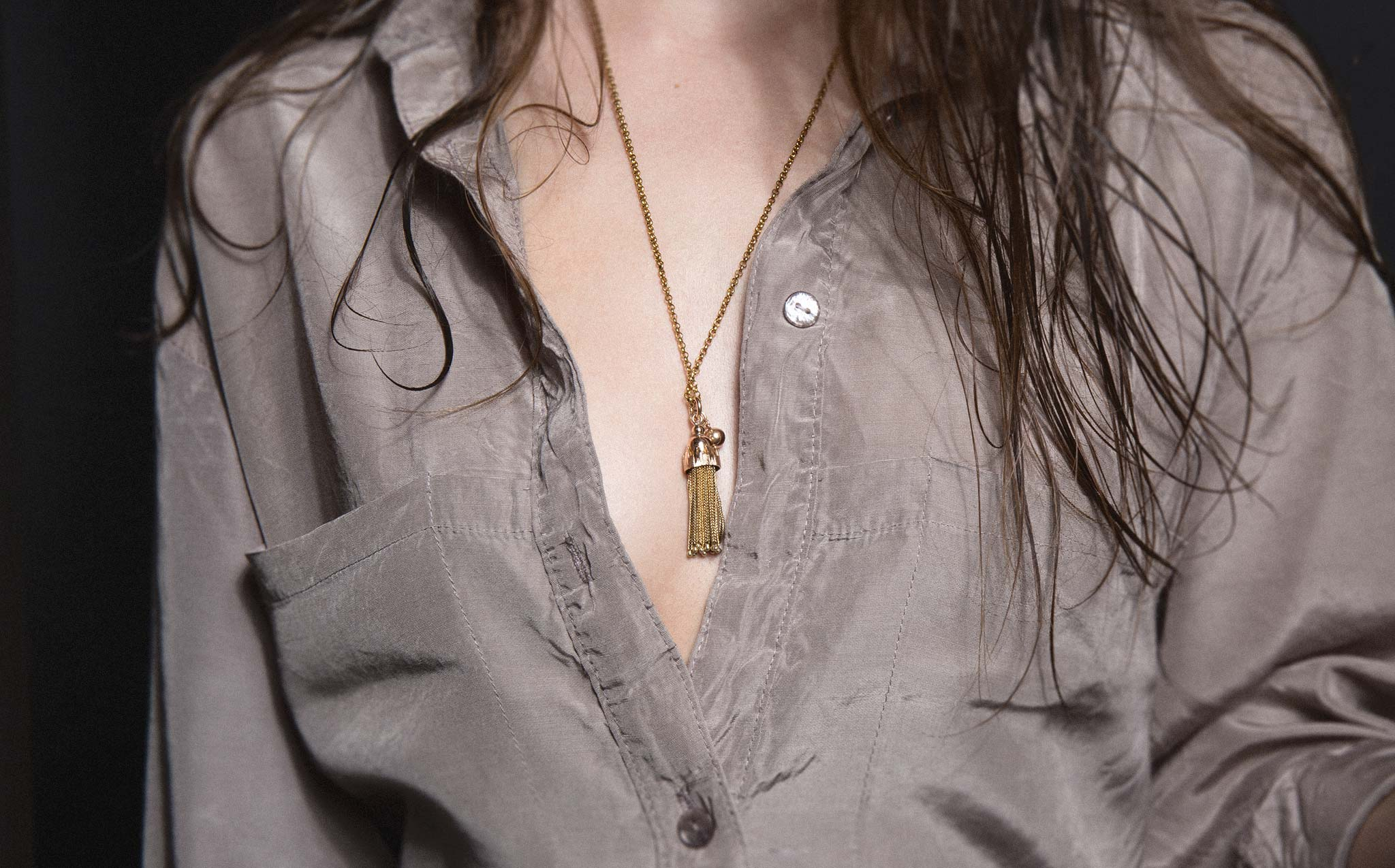 Golden Tassel Necklace