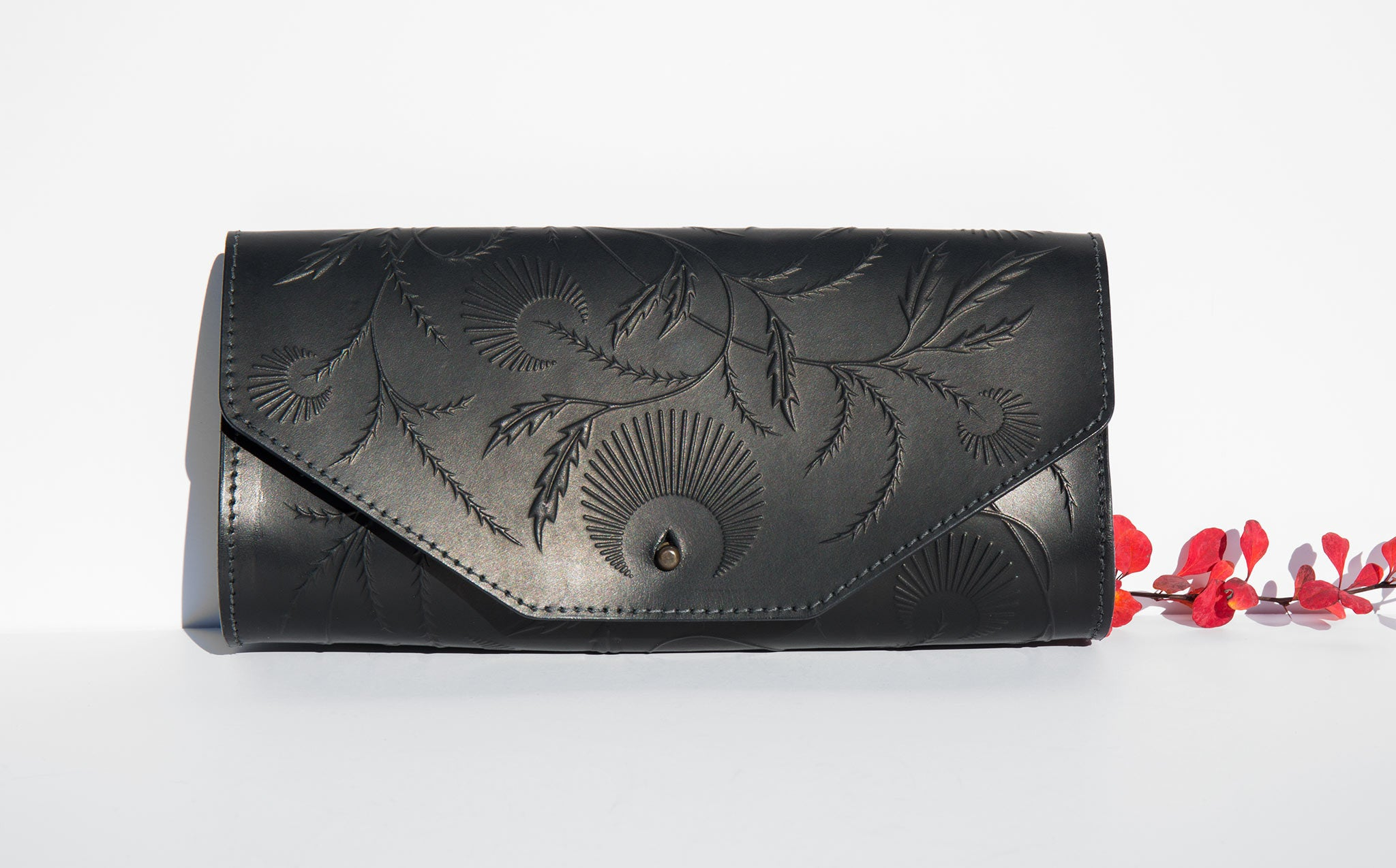 Animal Handmade Cosmic Thistle Clutch