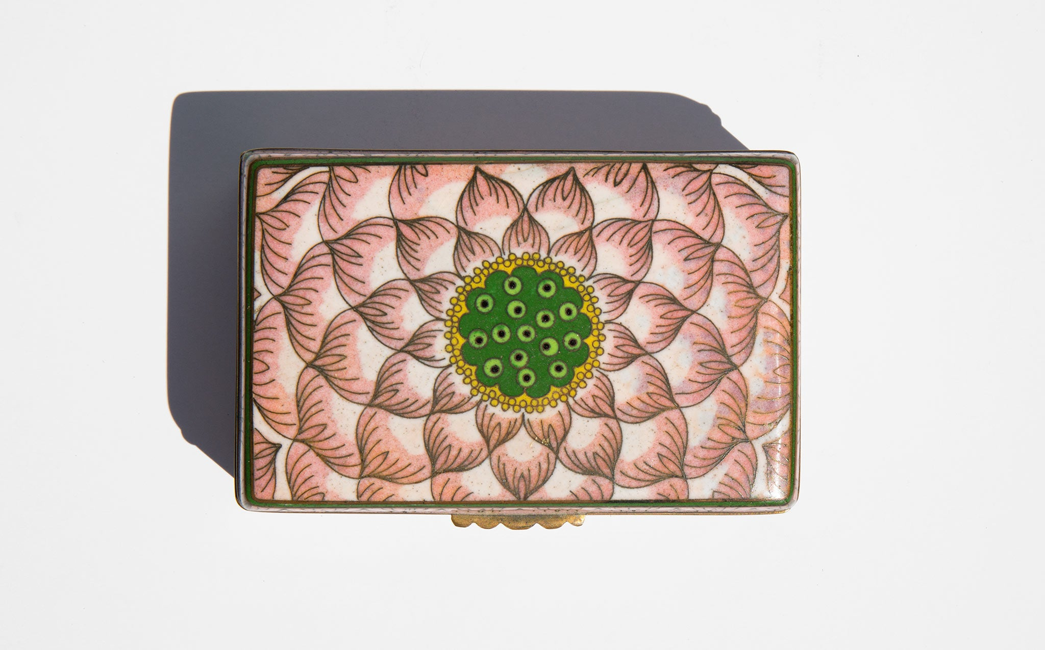 Cloisonné Lotus Matchbox