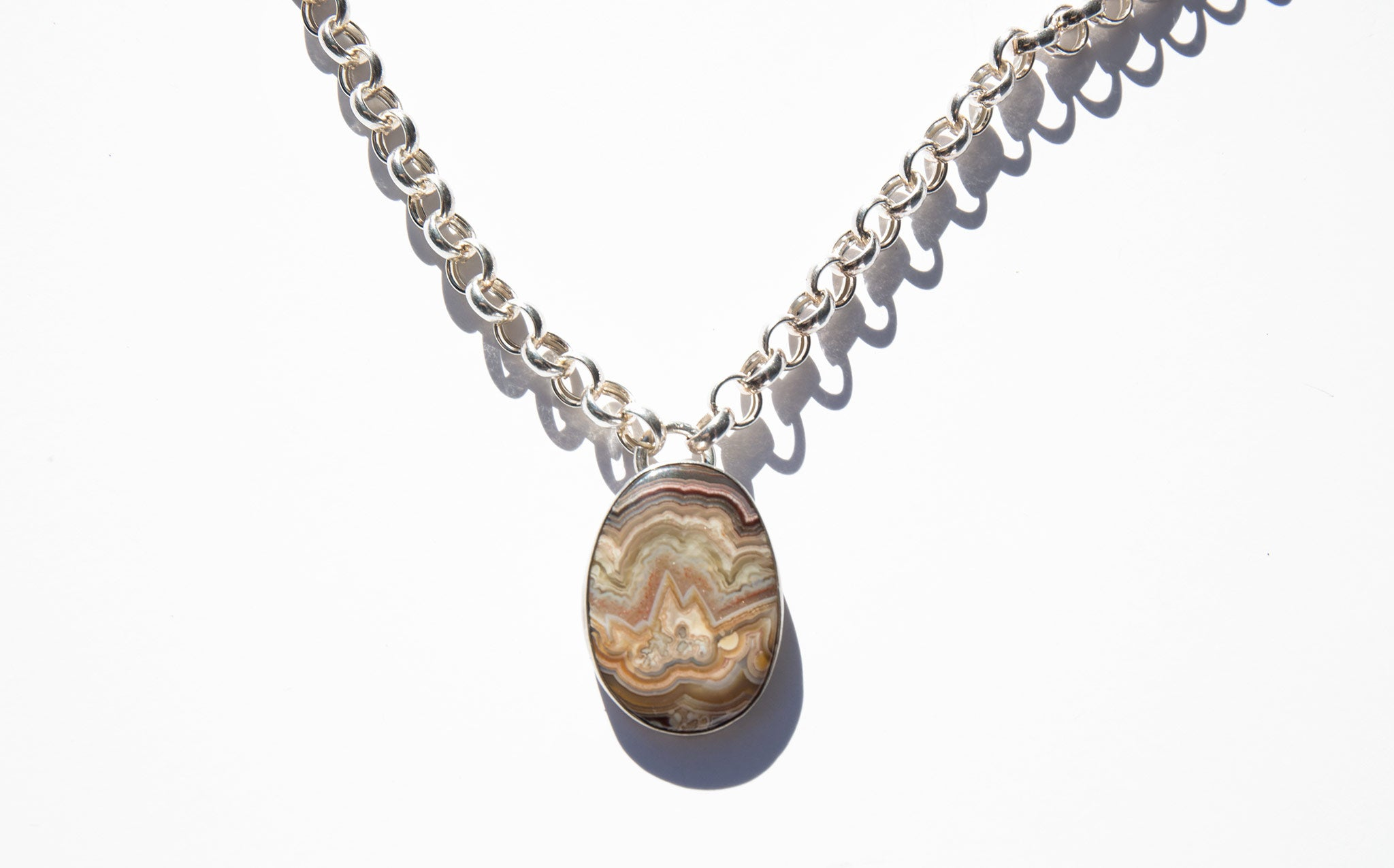 Stone and Silver Mountain Necklace