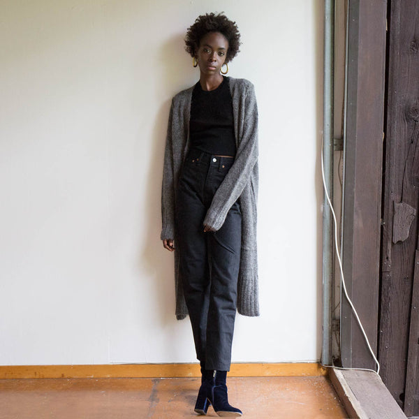 A Détacher Charcoal Carmel Sweater