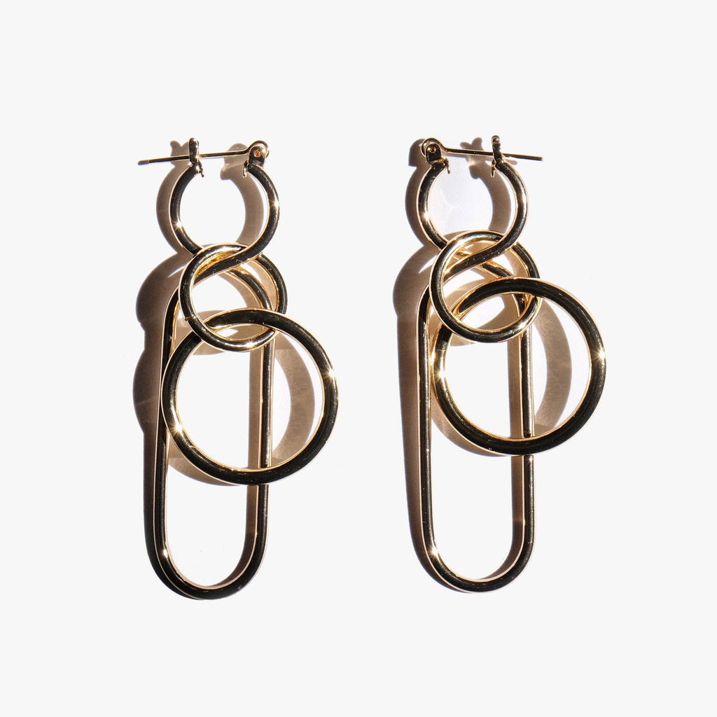 A Detacher Gold Fern Earrings