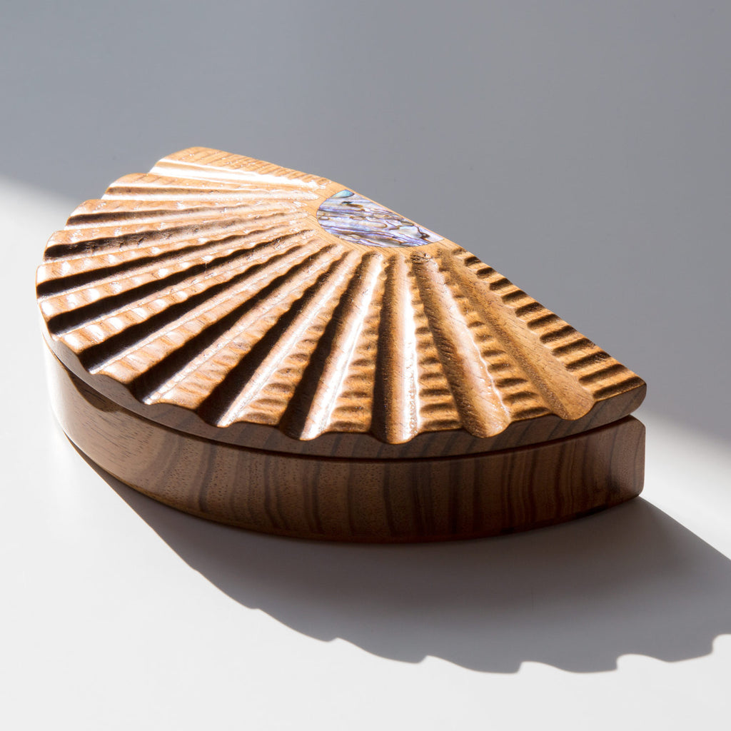 Australian Blackwood and Abalone Scallop Box