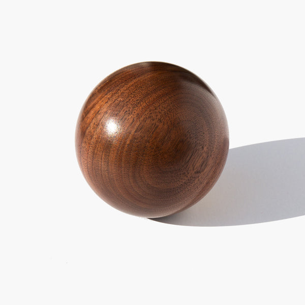 Bruce Perlmutter Hand Lathed Walnut Orb