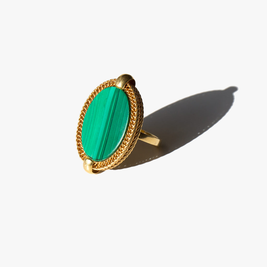18k and Malachite Andaz Ring
