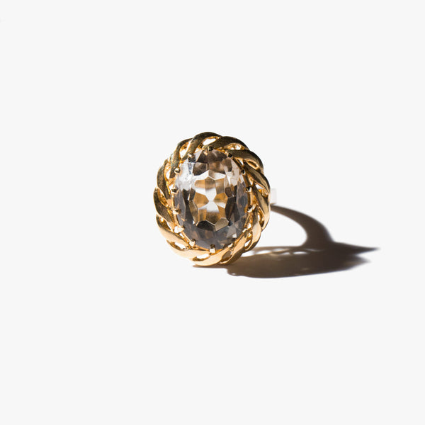 Citrine Positivity Ring