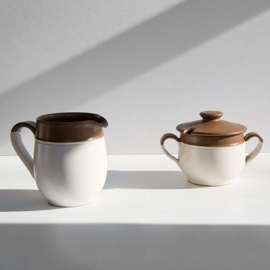 Denby Pottery Sugar and Creamer