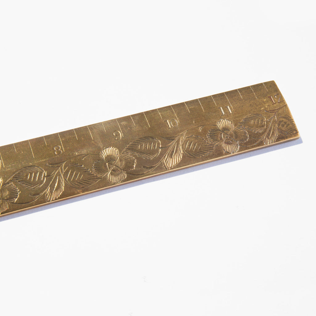 Etched Brass Ruler