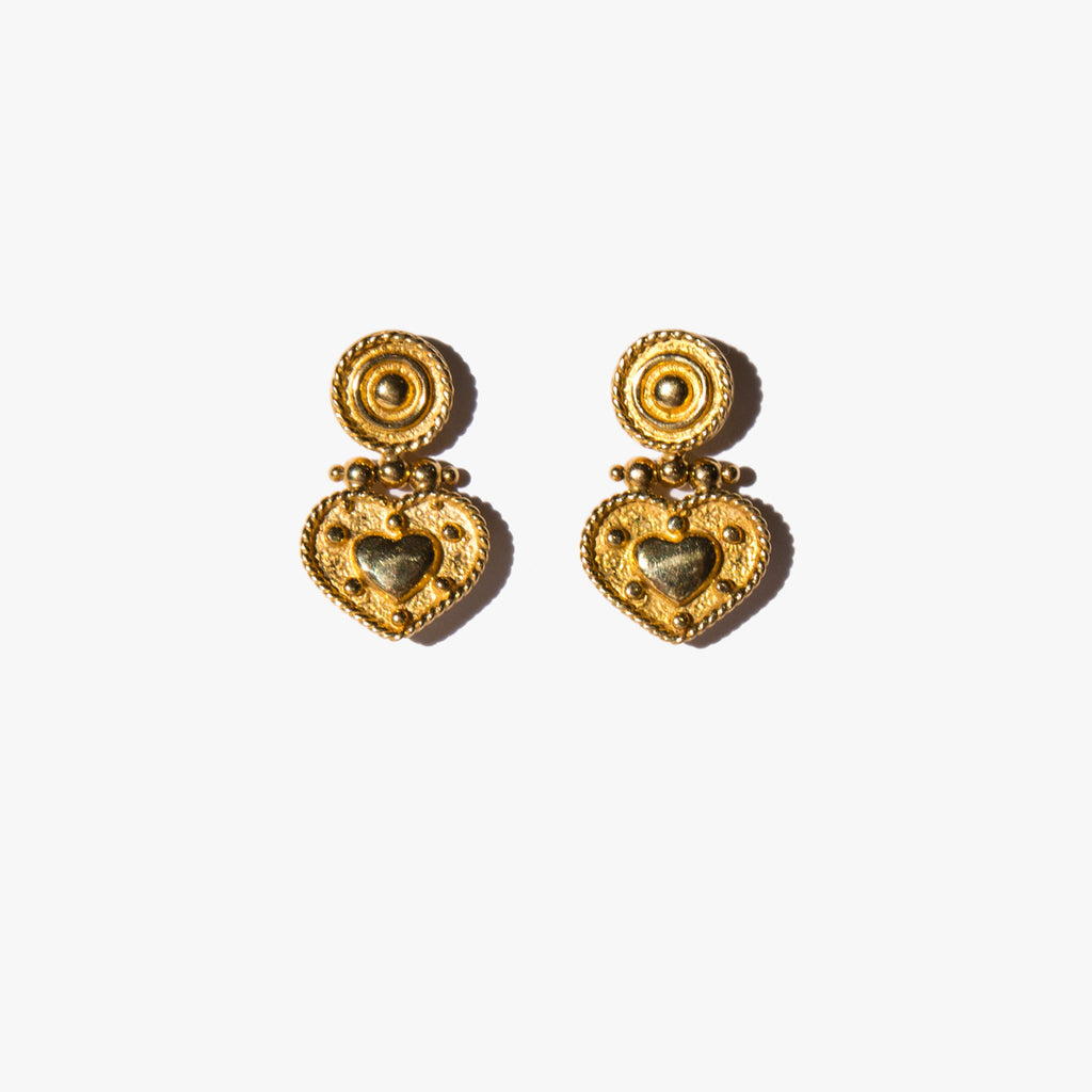 18k Be Still My Heart Earrings