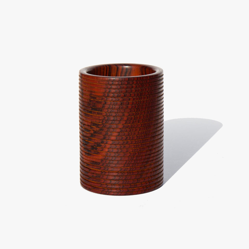 Hand Turned Granadillo Wood Ridged Cup