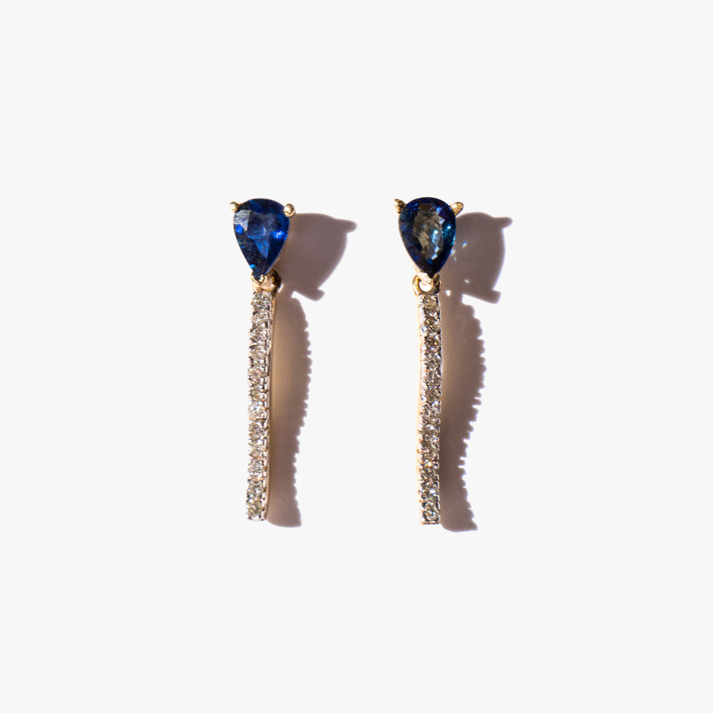 Sapphire Cobra Earrings