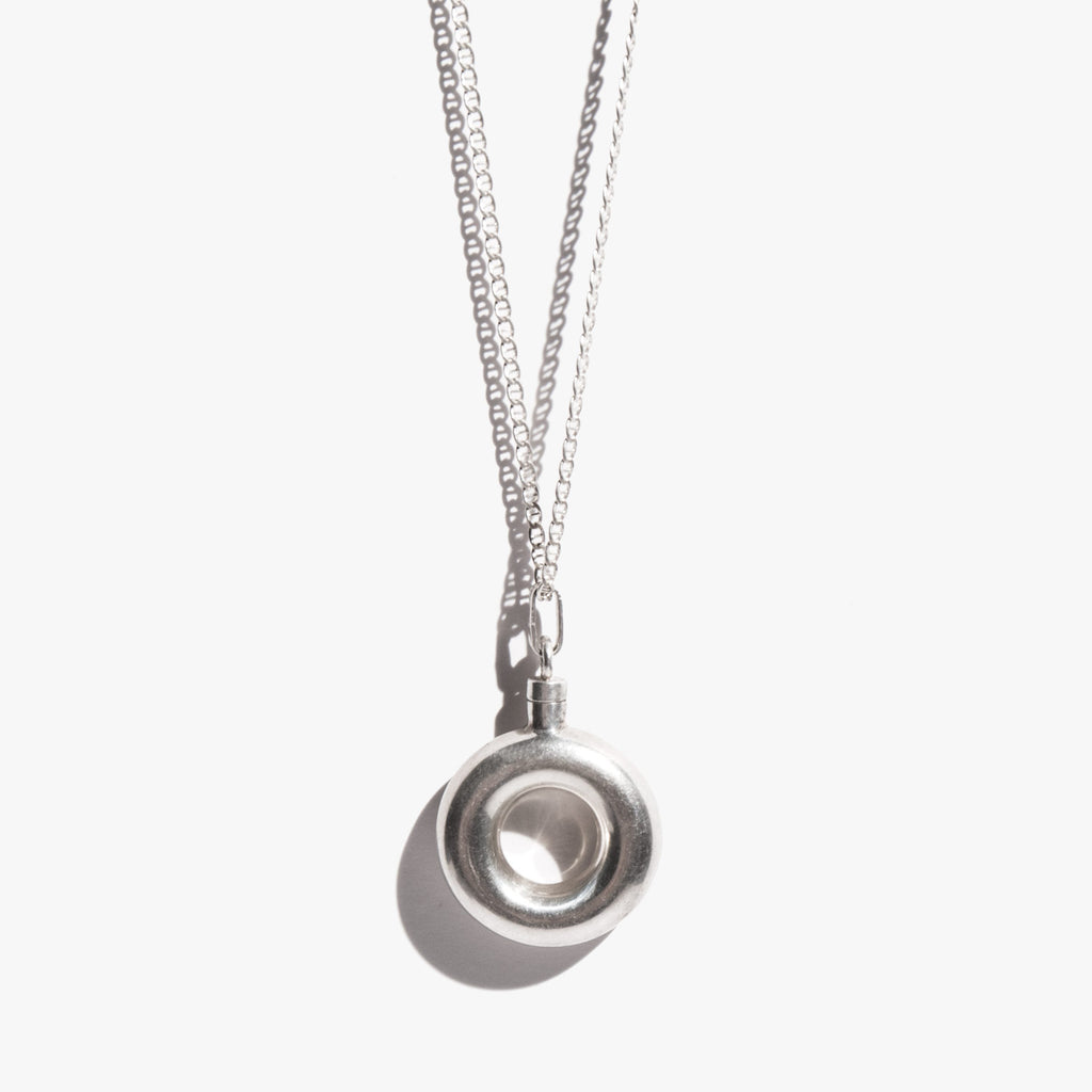 Sterling Round Perfume Vial Necklace