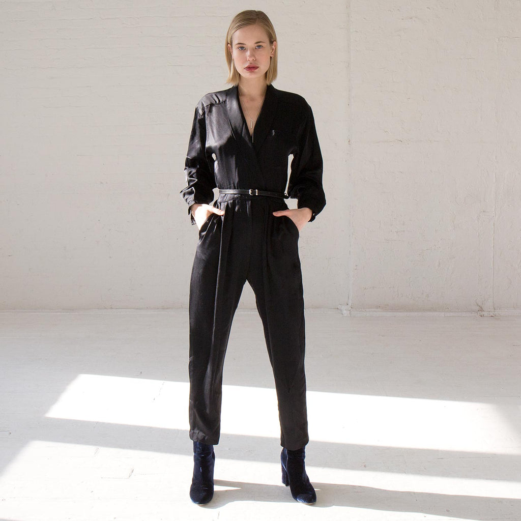 Vintage Satin Jumpsuit