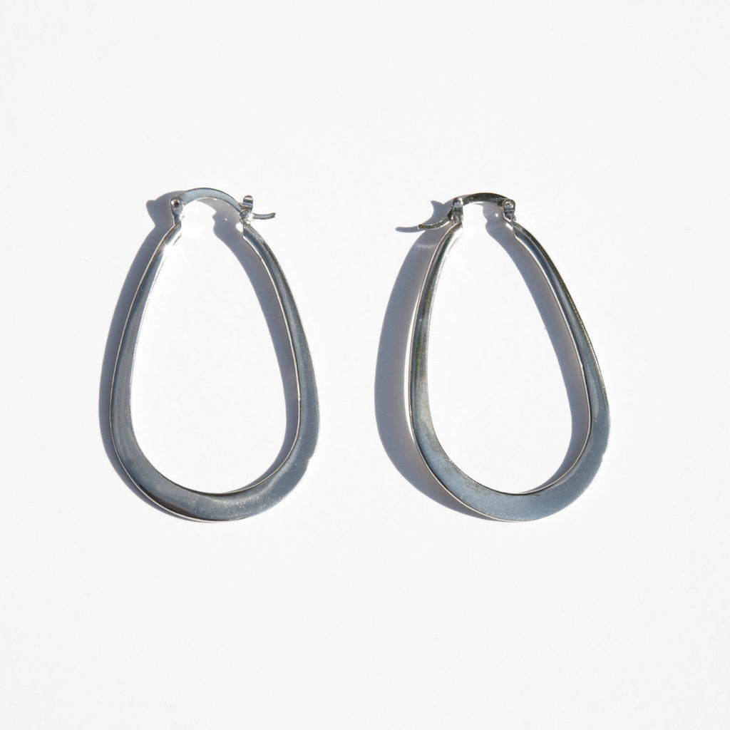 Sterling Silver Tear Drop Hoops