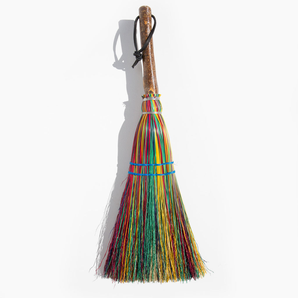Hockaday Handmade Rainbow Hearth Broom