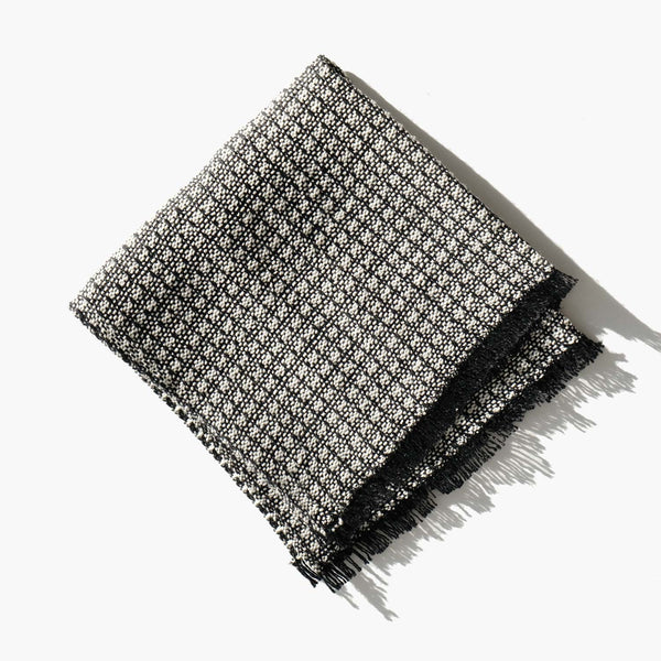 Linen Blend Basket Weave Face Cloth
