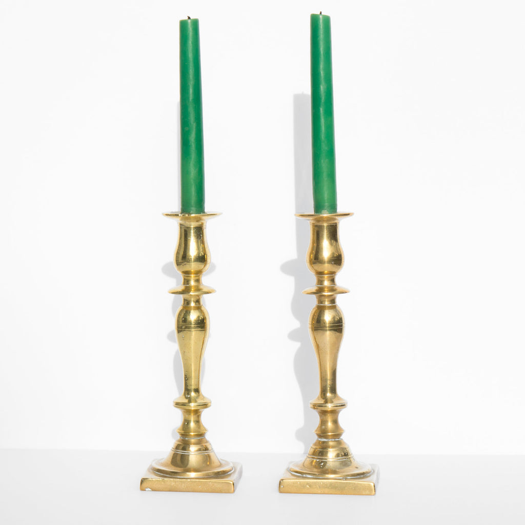 Antique Brass Candlesticks