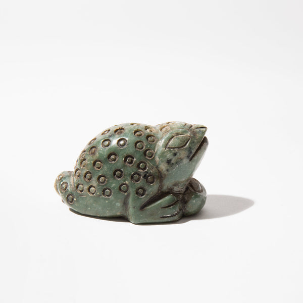 Carved Jade Frog