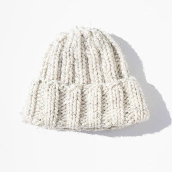 Clyde Mottled Wool Fold Knit Hat