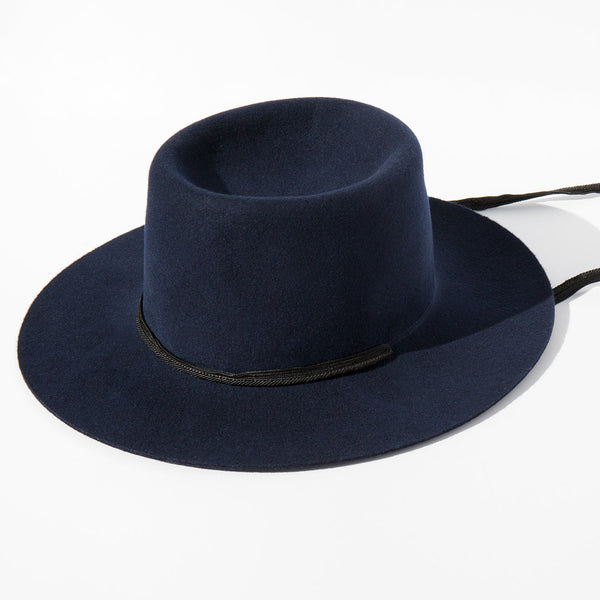 Clyde Navy Wool Gaucho Hat