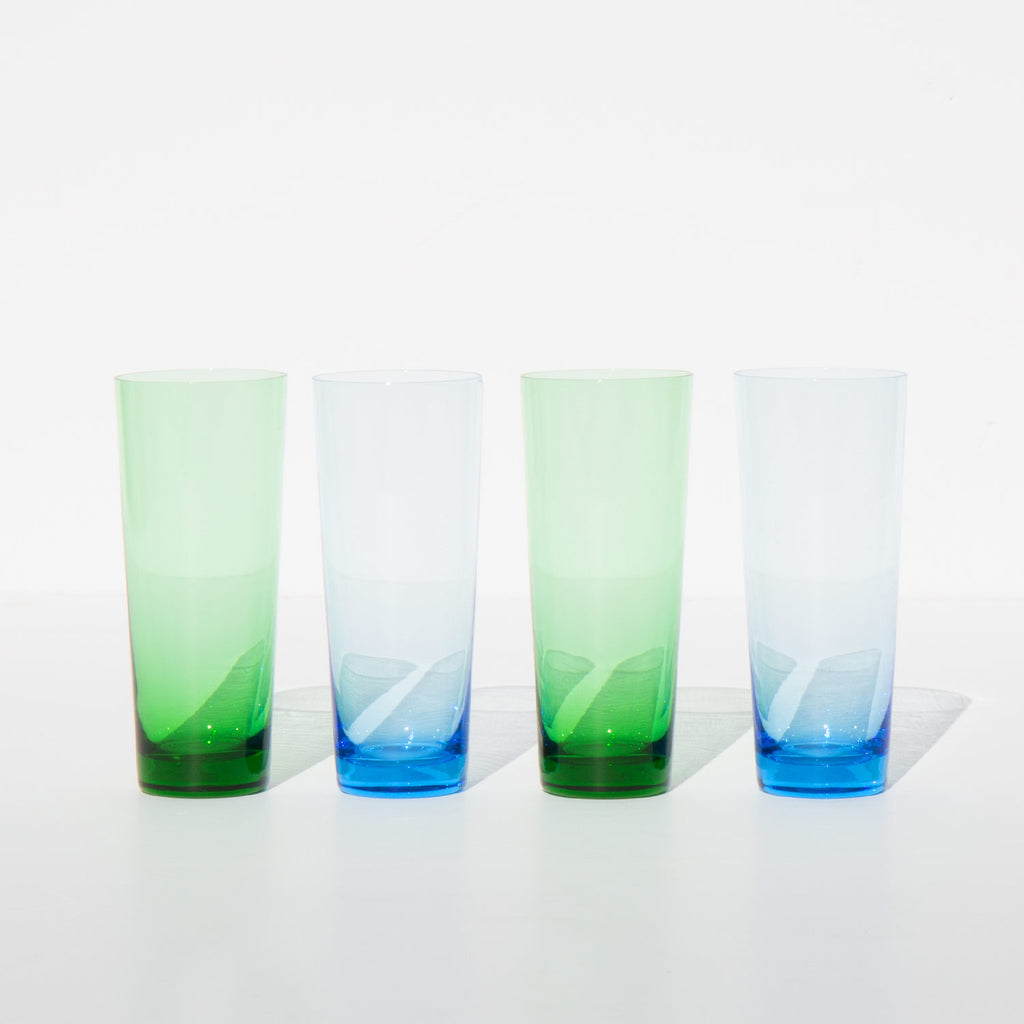 Colorblock Glass Set