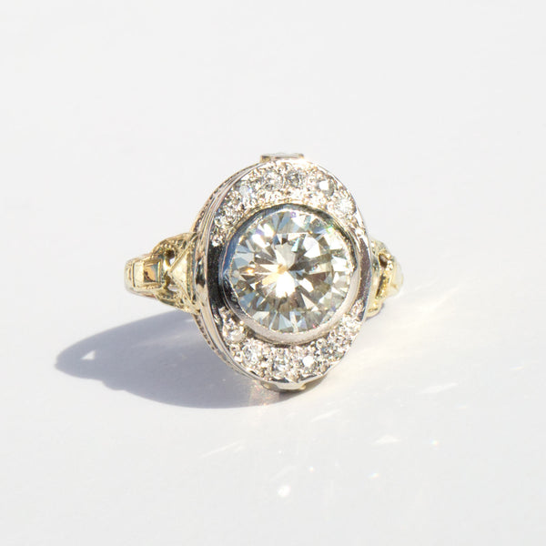 1940's 14k Gold Diamond Ring