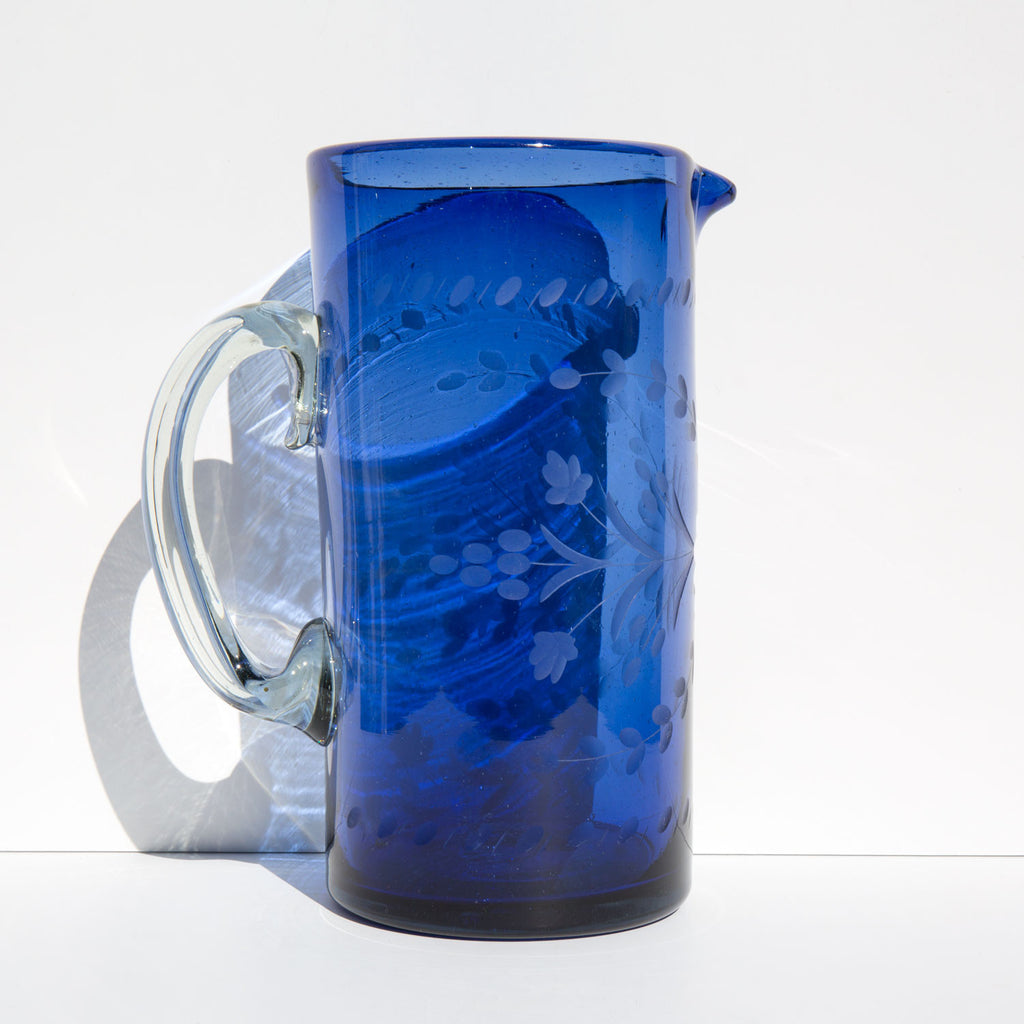 Etched Mexican Pitcher