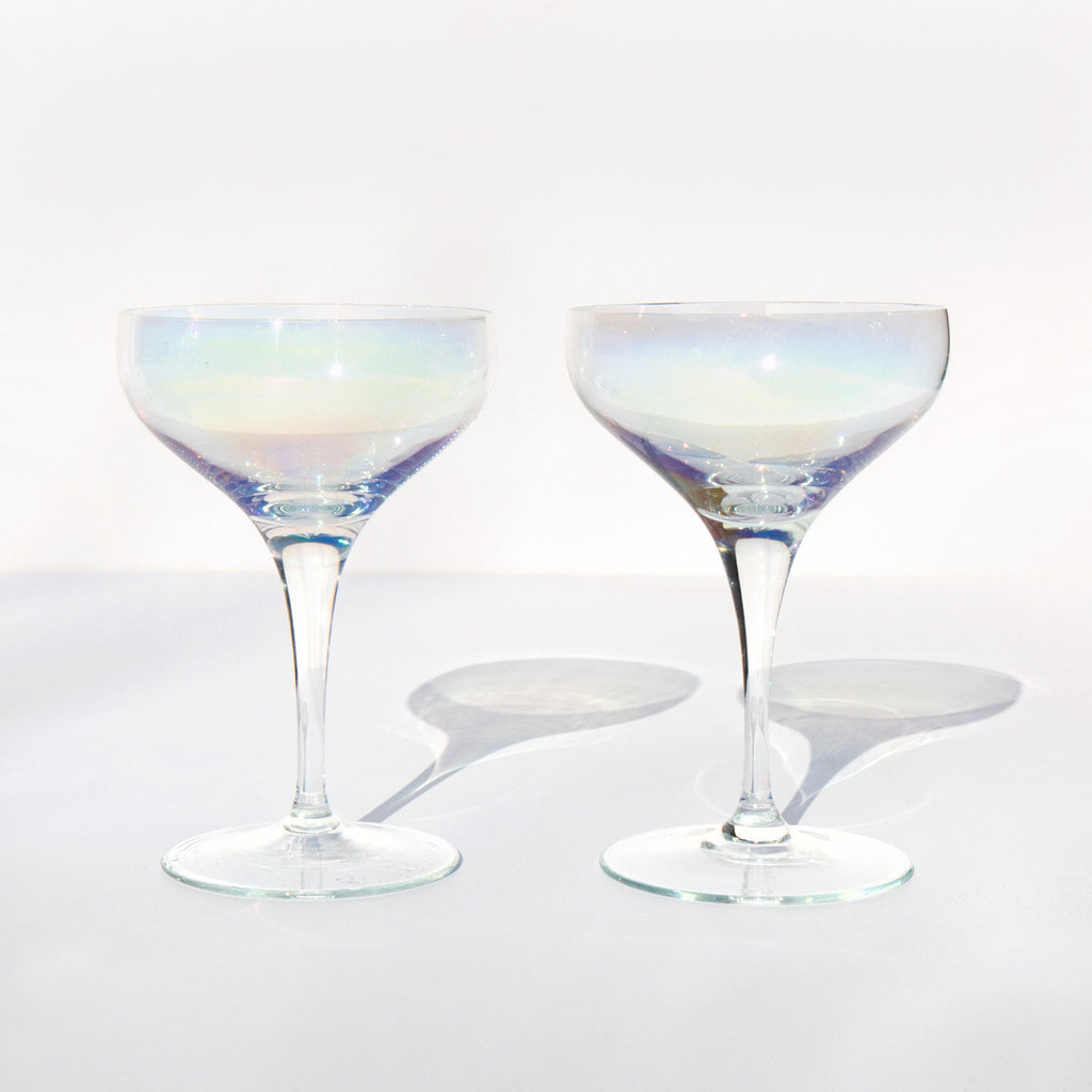 Iridescent Champagne Coupes