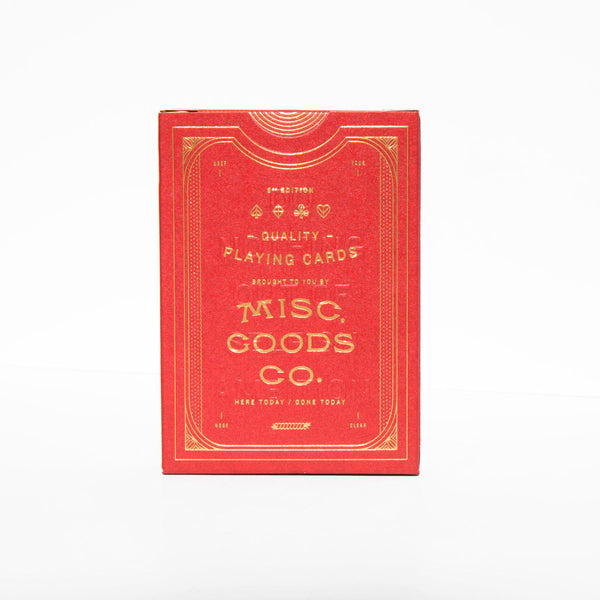 Misc Goods Co Playing Cards - Red Large