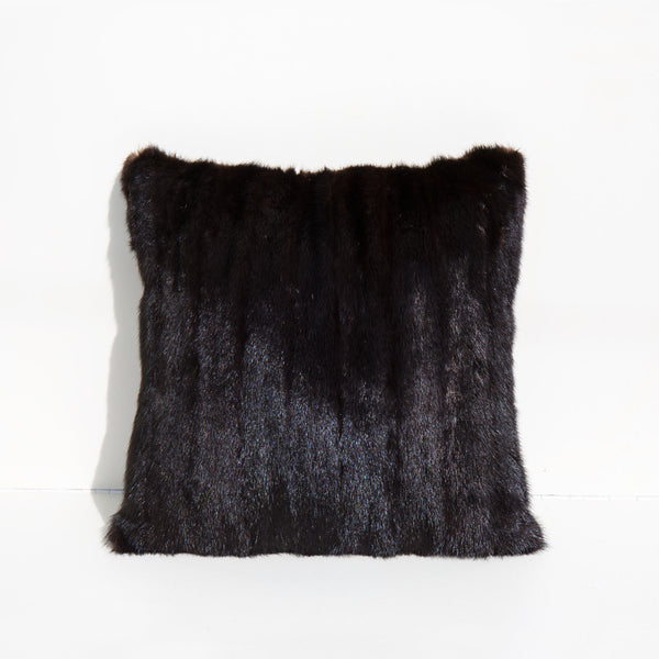 Recycled Mink and Velvet Pillow