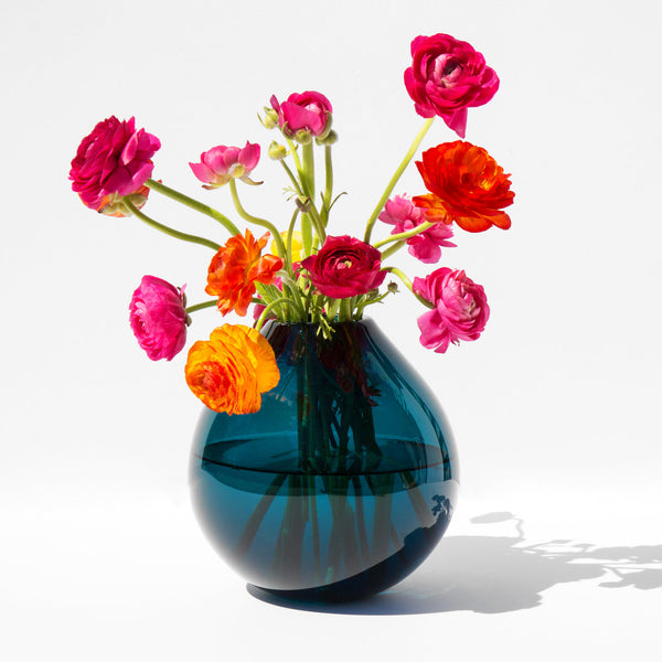 Samuji Koti Mouth Blown Drop Glass Vase