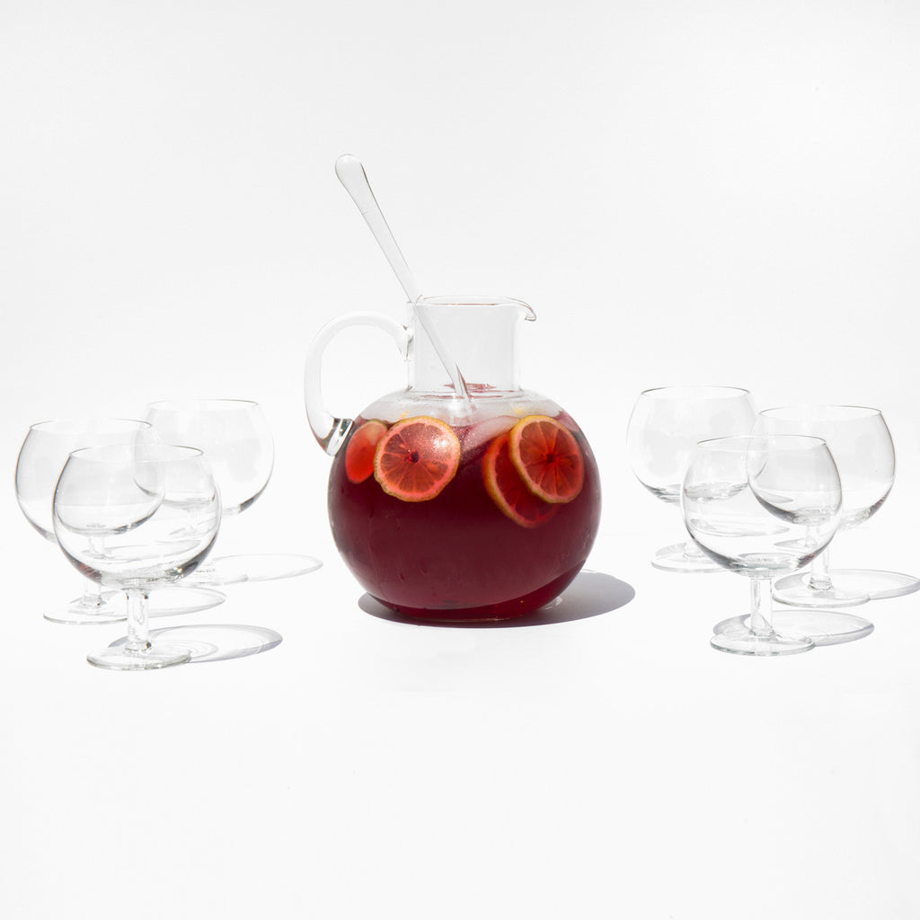 Blown Glass Sangria Set