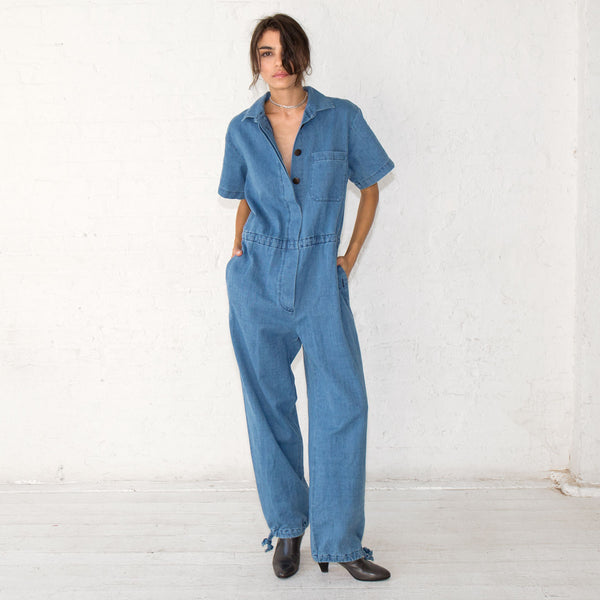 Mara Hoffman Lee Denim Jumpsuit