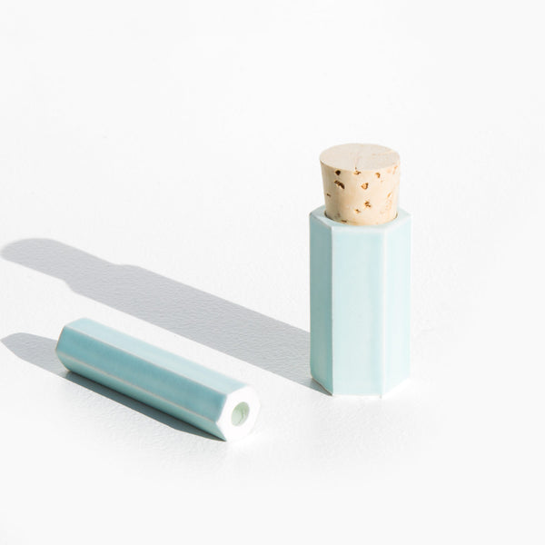 Medina Ceramics Sea Green Chillum and Jar Set