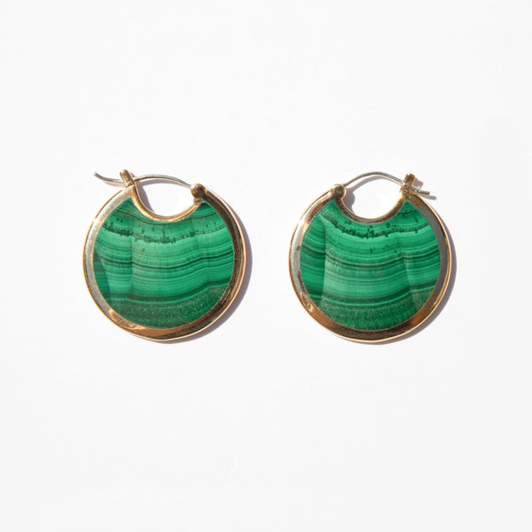 Pamela Love Malachite Large Mojave Hoops