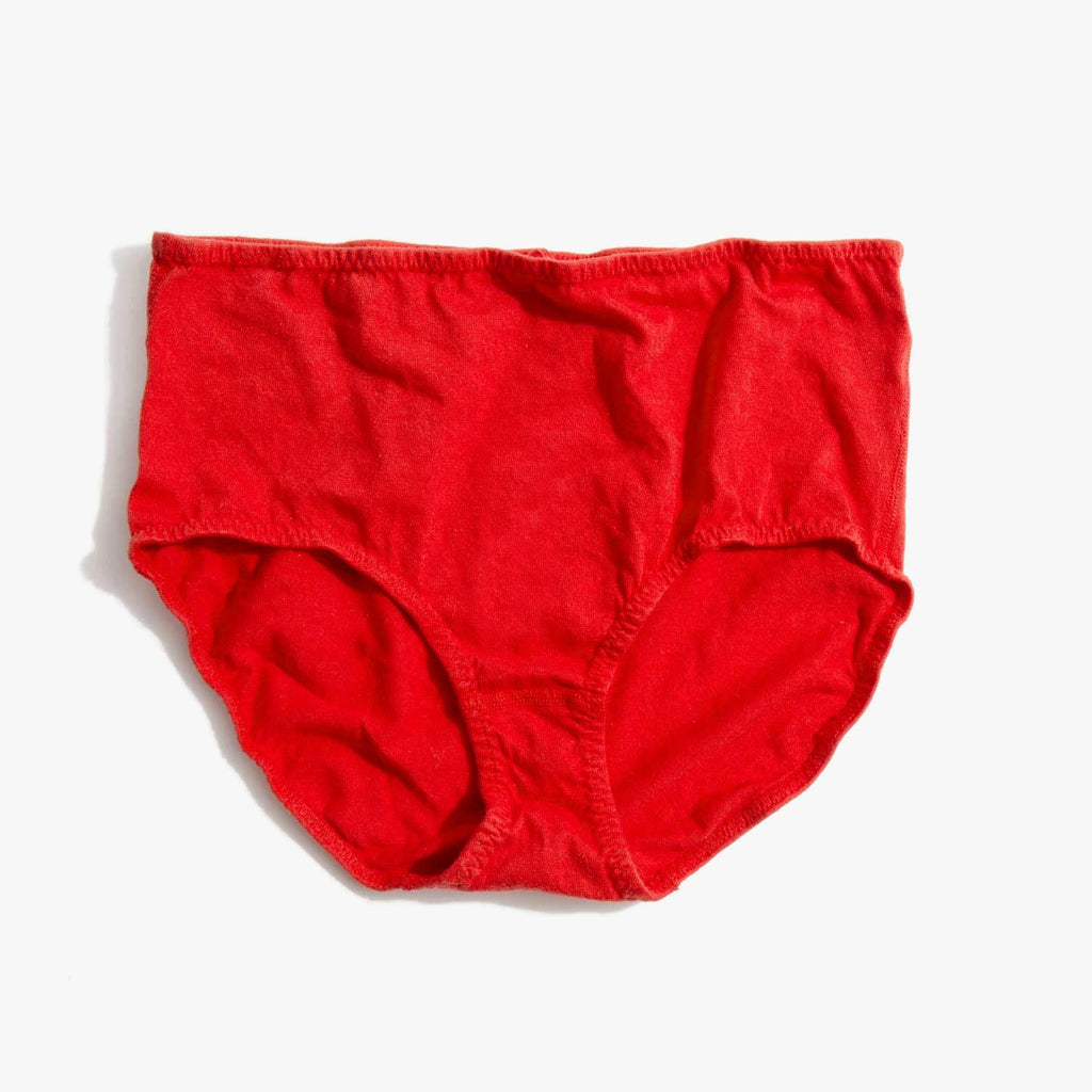 Pansy Red High Rise Panty