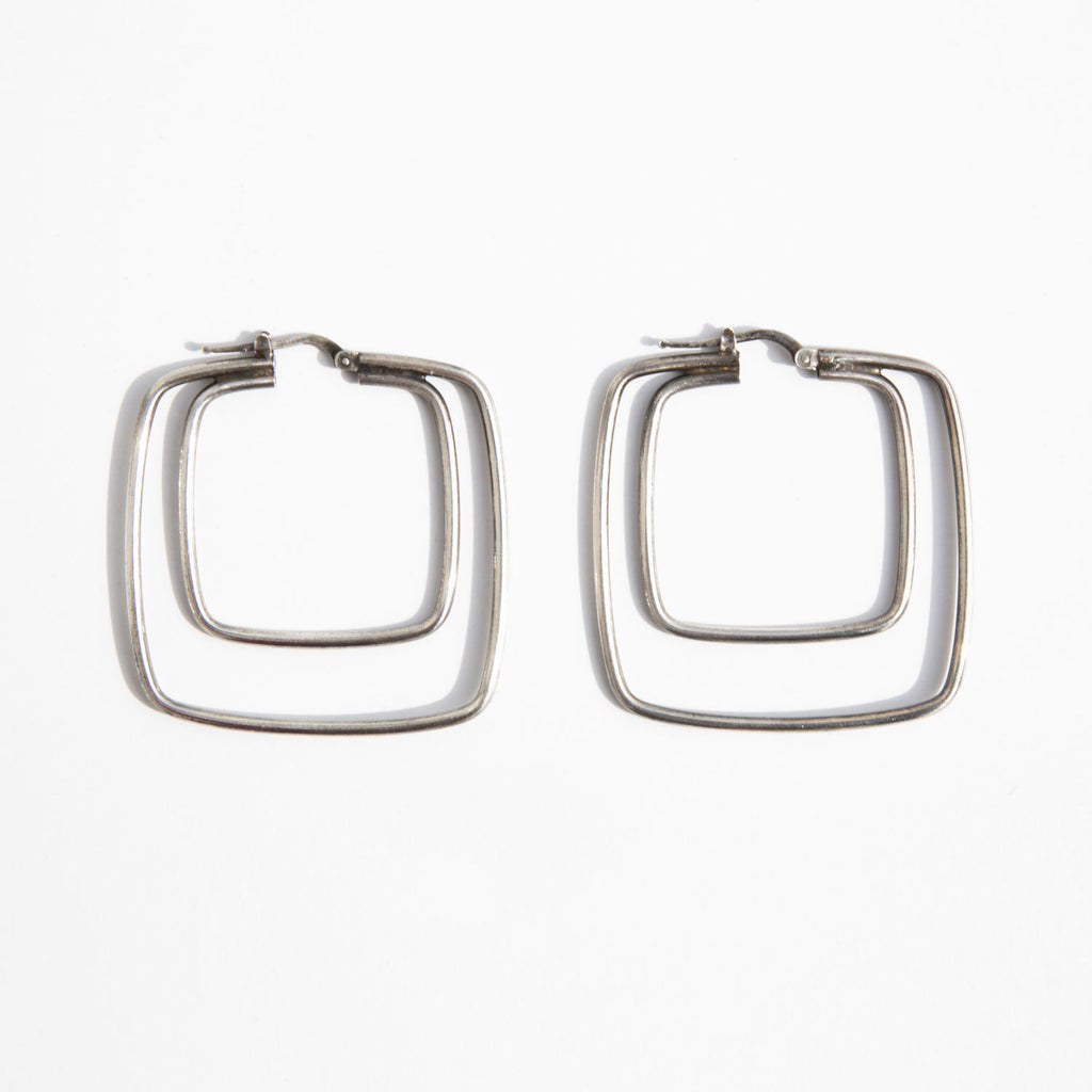 Sterling Squares Earrings