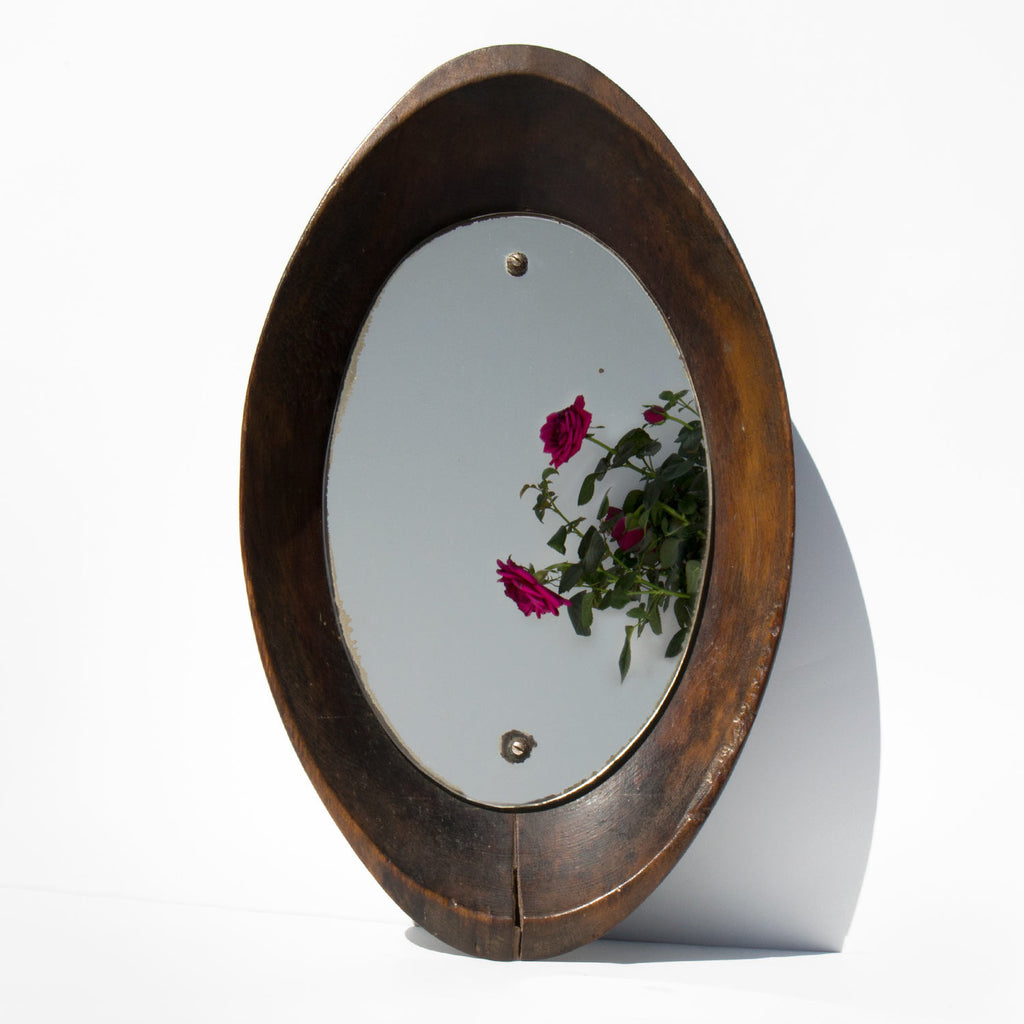 Wooden Bowl Mirror
