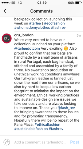 FashRev TARLEE Cru London