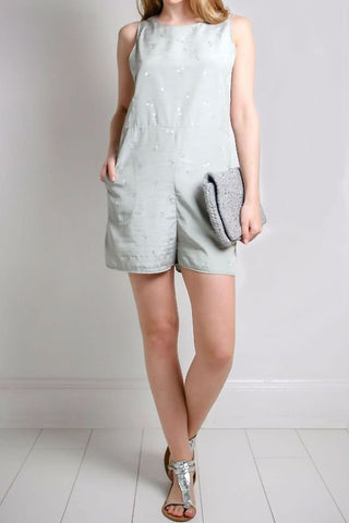 Jain Mint Green Playsuit